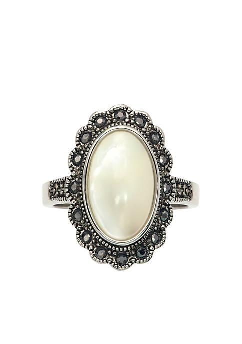 Sunburst Pearl Statement Ring