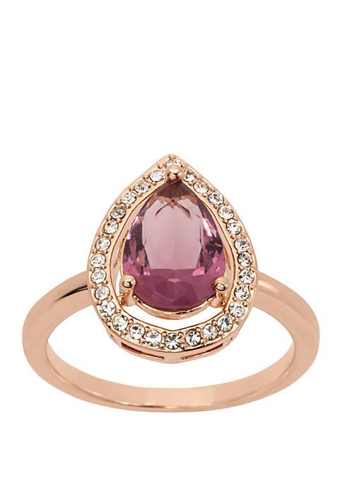 Kim Rogers® Boxed Teardrop Crystal Ring
