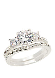 Kim Rogers® Boxed 3 Crystal Ring