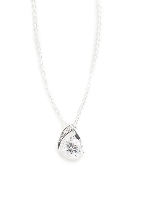 Kim Rogers® Round Cubic Zirconia Pave Necklace