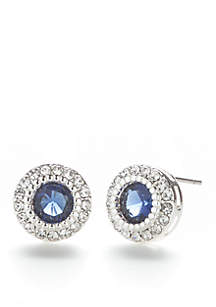 Crystal Round Cubic Zirconia Stone Earrings