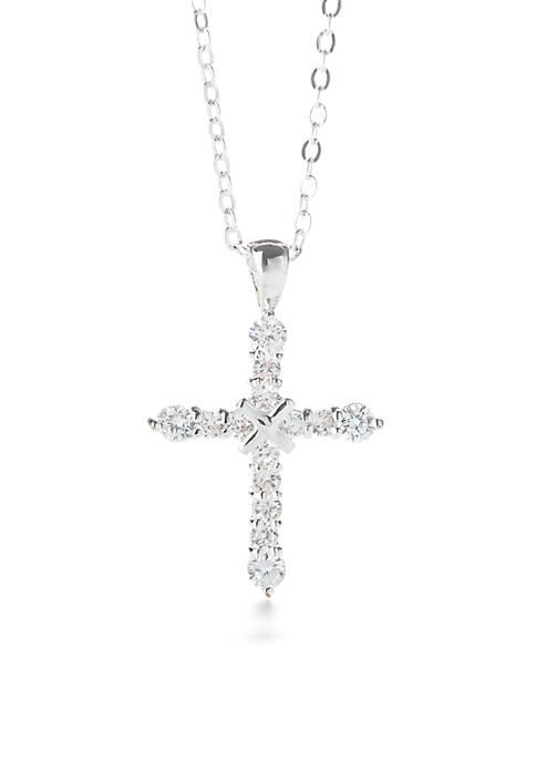 Kim Rogers® Cubic Zirconia Cross Pendant Necklace