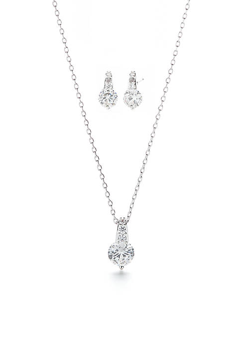 Kim Rogers® Cubic Zirconia Round Necklace and Earring