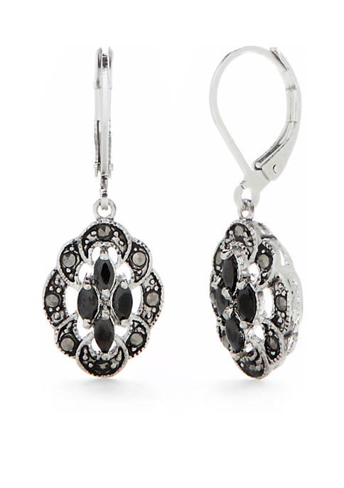 Kim Rogers® Silver-Tone Cubic Zirconia Drop Earrings