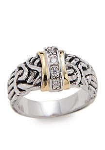 ... Kim Rogers® Boxed Antiqued Cubic Zirconia Band