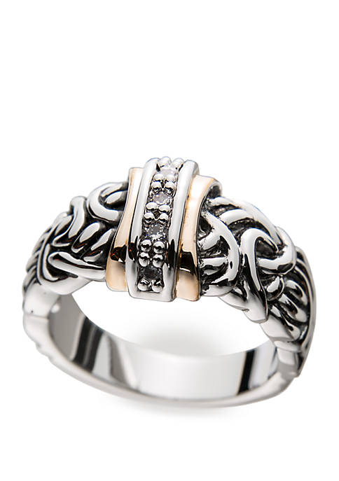 Kim Rogers® Antiqued Cubic Zirconia Band Ring