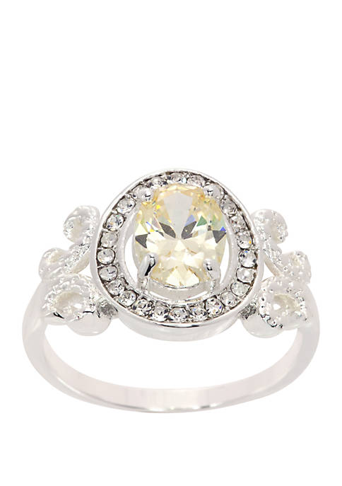 Kim Rogers® Boxed Oval Cubic Zirconia Crystal Ring