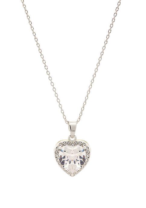 Kim Rogers® Cubic Zirconium Crystal Heart Pendant Necklace