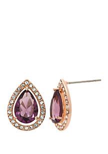 Kim Rogers® Boxed Teardrop Crystal Earrings