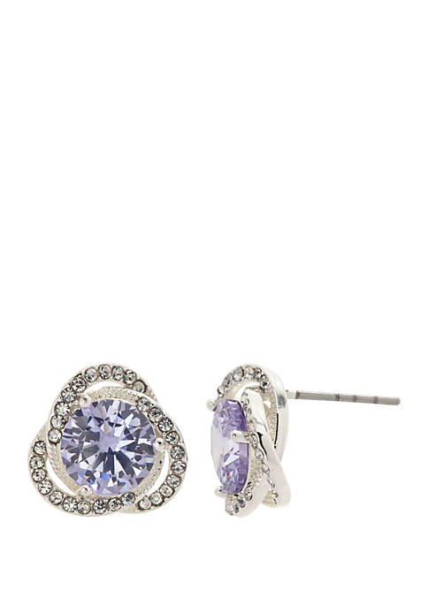 Kim Rogers® Silver Tone Round Cubic Zirconia Crystal