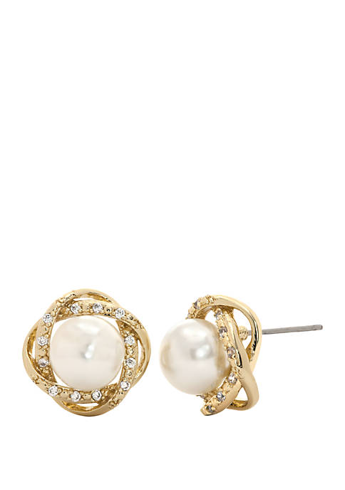 Kim Rogers® Boxed Cubic Zirconia Pearl Pave Twist