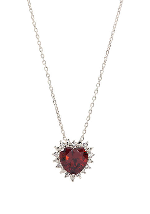 Cubic Zirconia Heart Paved Crystal Necklace