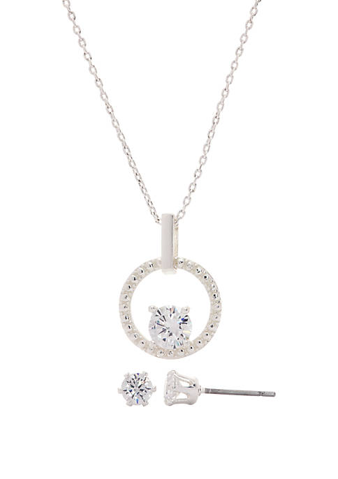Kim Rogers® Boxed Cubic Zirconia Round Pave Circle