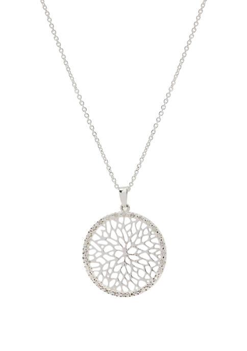 Kim Rogers® Cubic Zirconium Pavé Filigree Pendant Necklace
