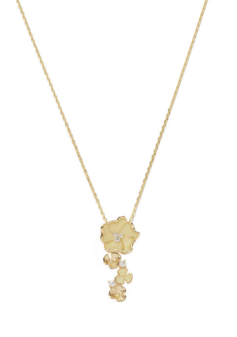 Kim Rogers® Boxed Gold-Tone Flower Necklace