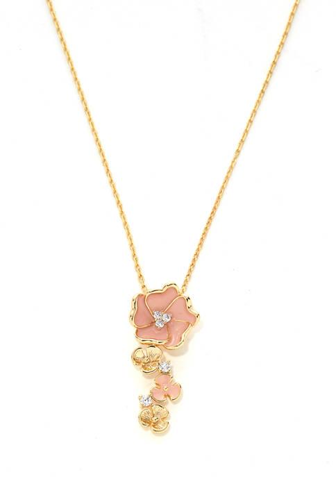 Kim Rogers® Boxed Pendant Flower Necklace