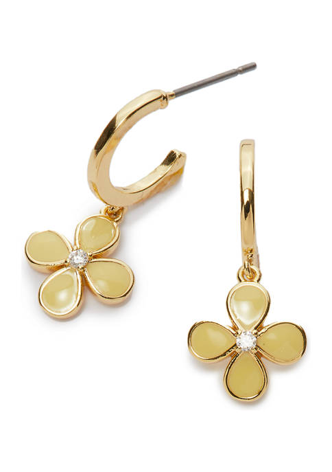 Kim Rogers® Boxed Gold-Tone Flower Drop Earrings