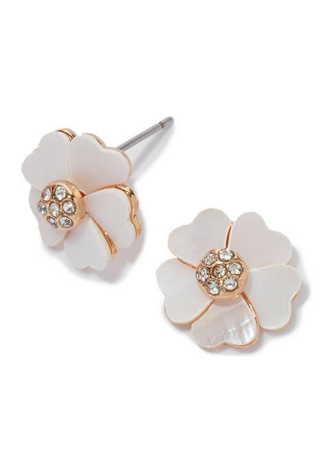 Kim Rogers® Boxed Gold Flower Stud Earrings
