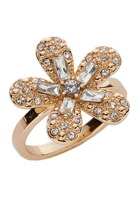 Kim Rogers® Boxed Gold-Tone Flower RIng