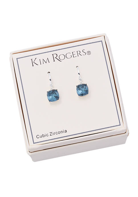 Kim Rogers® Boxed Lab Created Cubic Zirconia Drop