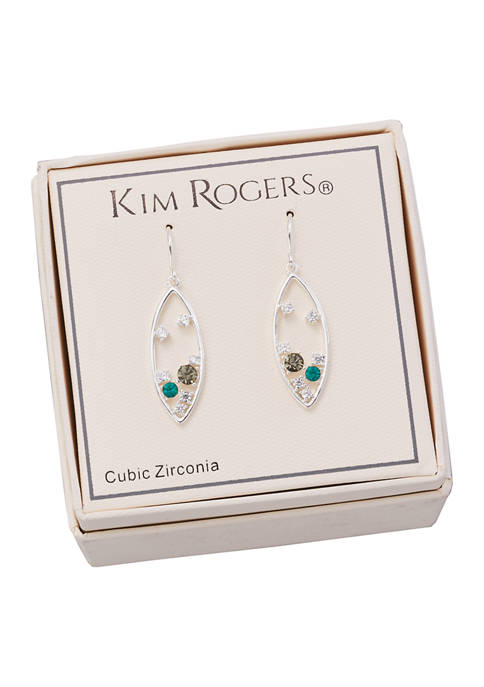 Kim Rogers® Boxed Cubic Zirconia Round Crystal Earrings