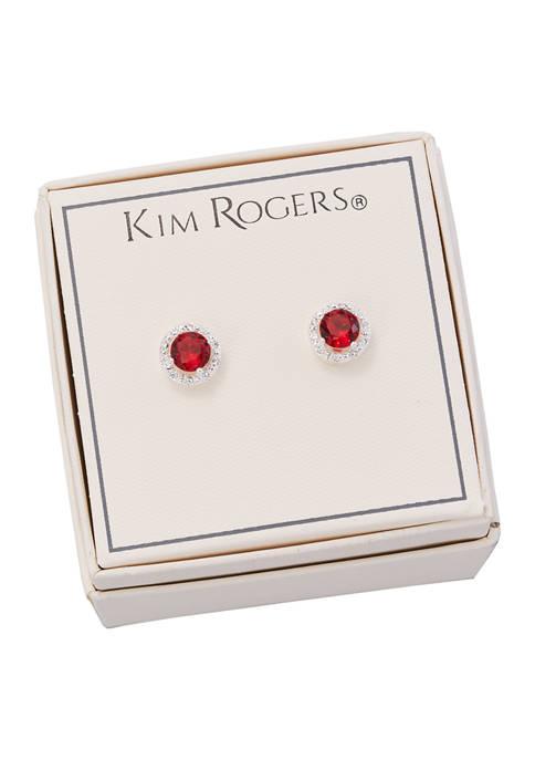 Kim Rogers® Boxed Round Crystal Stud Earrings