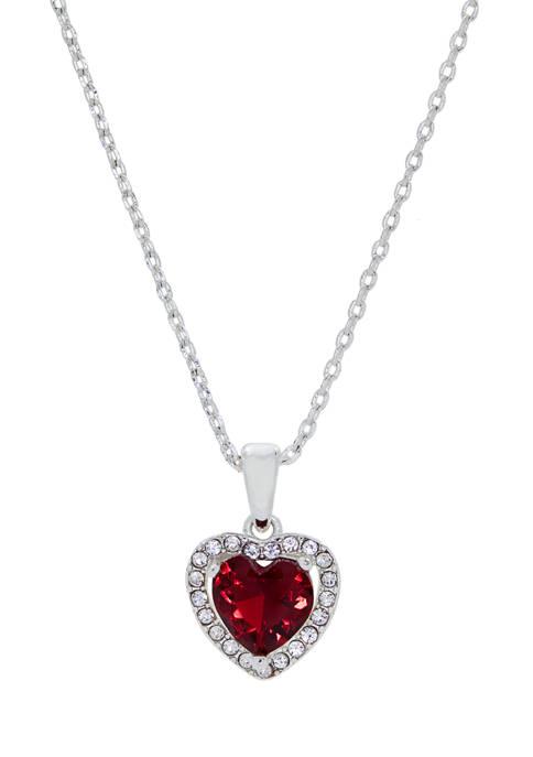 Kim Rogers® Boxed Crystal Heart Pavé Halo Pendant