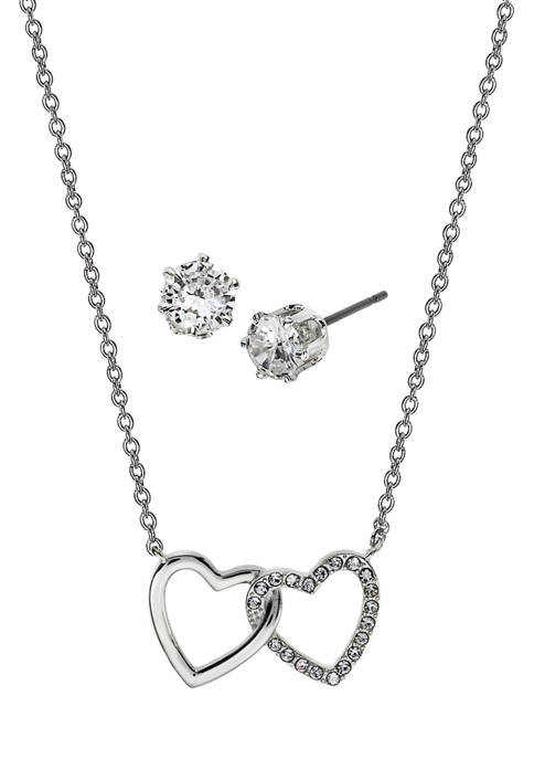 Kim Rogers® Boxed Cubic Zirconia Earring and Necklace
