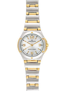 Two-Tone Round Bracelet Watch
