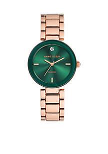 Women's Rose Gold-Tone Diamond Dial Bracelet Watch