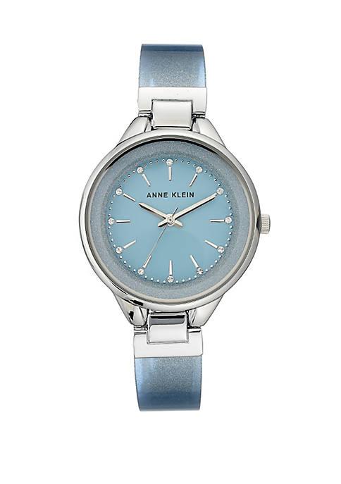Anne Klein Silver Tone Bangle Bracelet Watch