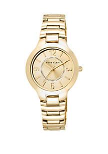 Gold-Tone Easy Read Bracelet Watch