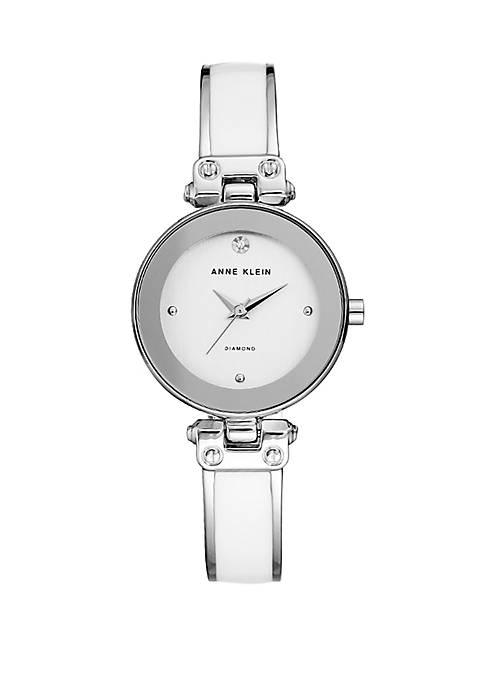 Anne Klein Silver Tone Bangle Watch