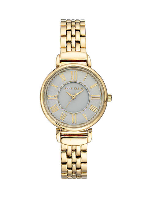 Anne Klein Gold Tone Bracelet Watch
