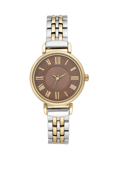 Womens Two Tone Tan Dial Watch