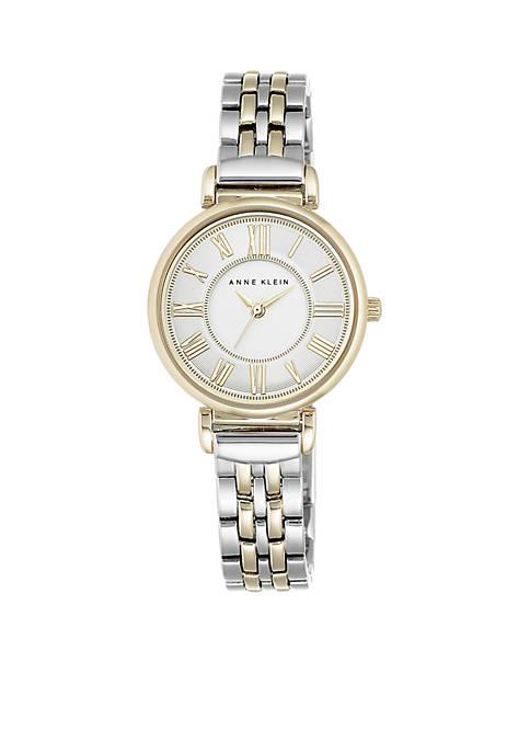 Anne Klein Womens Two-Tone Bracelet Link Watch