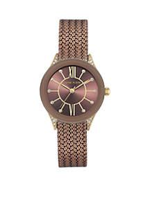 Two-Tone Mesh Bracelet Watch
