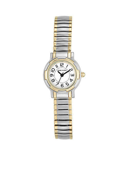 Anne Klein Two-Tone Light Expansion Bracelet Watch