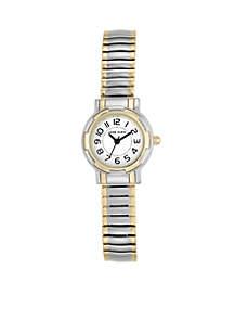 Two-Tone Light Expansion Bracelet Watch