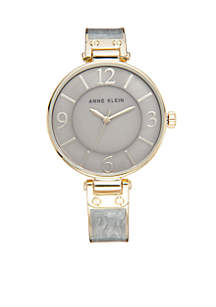 Two-Tone Plastic Bangle Watch