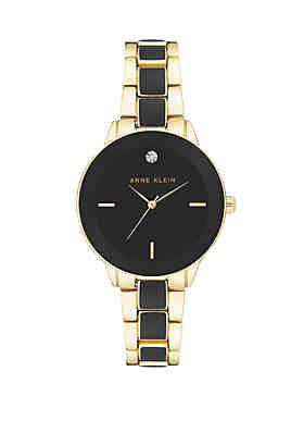 01bb93803b7 Anne Klein Gold-Tone Diamond Accent Watch ...