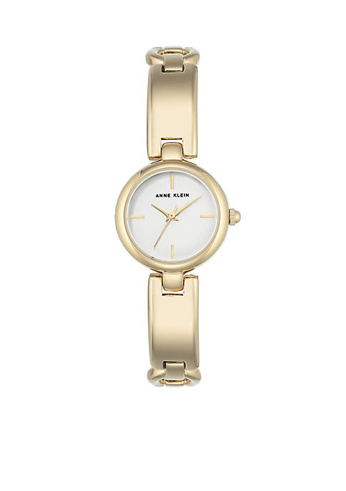 Anne Klein Womens Gold-Tone Bangle Watch