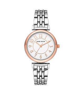 f79dec69d76 Anne Klein Women's Rose Gold and Silver-Tone Bracelet Watch | belk