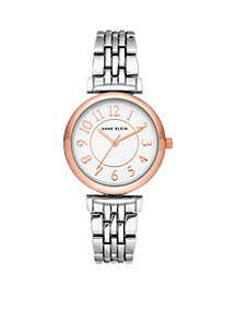 Women's Rose Gold and Silver-Tone Bracelet Watch