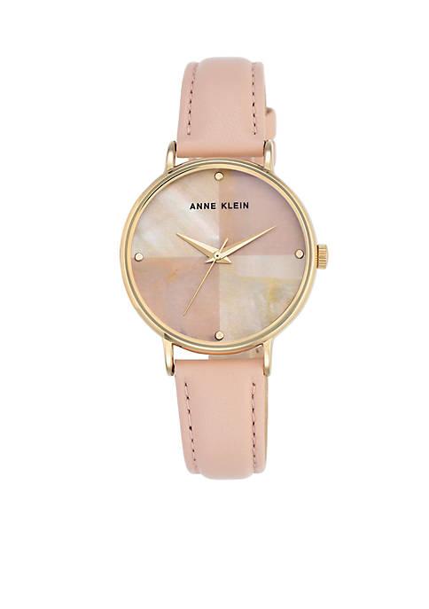 Anne Klein Womens Pink Pearl Watch