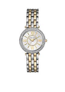 Women's Two-Tone Crystal Bracelet Watch