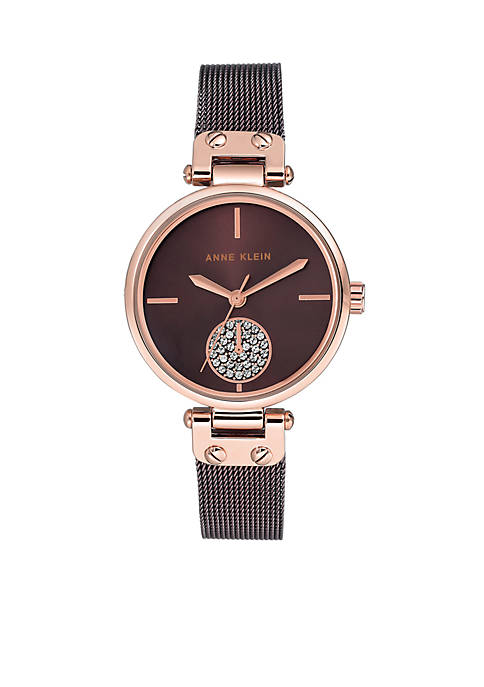 Anne Klein Crystal Metal Watch