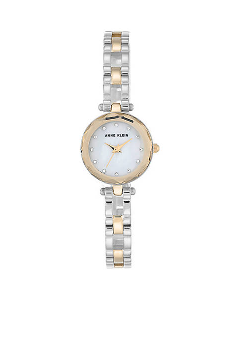 Anne Klein Two-Tone Gold & Silver Classic Watch