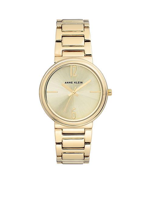 Anne Klein Gold-Tone Bracelet Link Watch