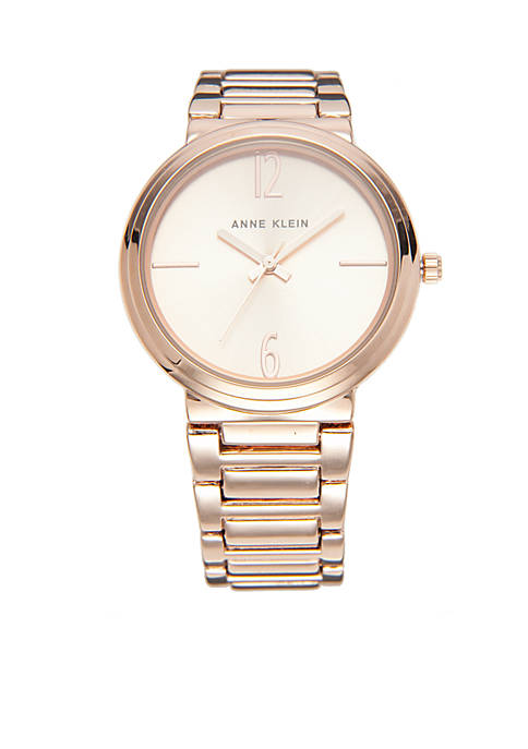 Anne Klein Rose Gold-Tone Bracelet Watch
